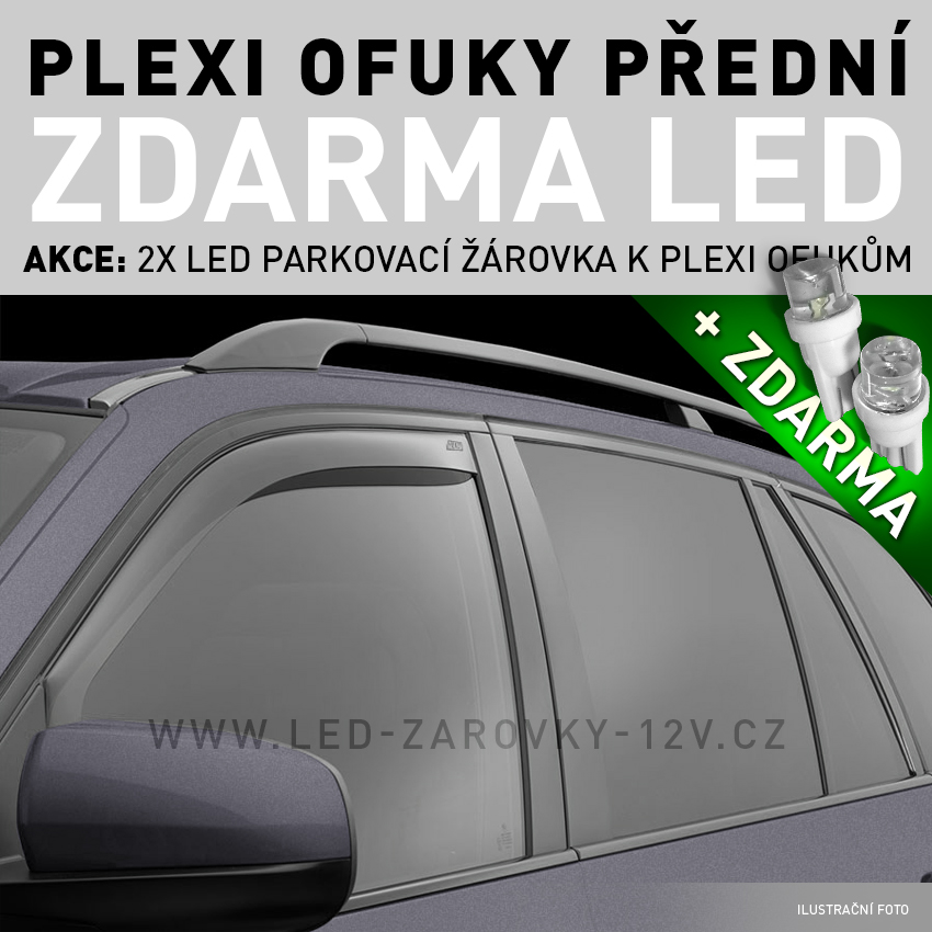 AKCE: Plexi deflektory Lexus IS 250, 4D, r.v.06, sedan