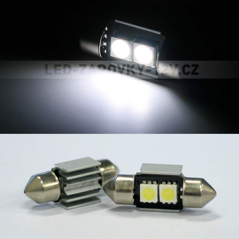 CAN-BUS sufitka bílá, 2 SMD LED, 36mm, 1ks