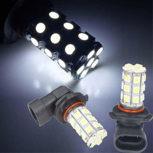 LED žárovka 12V s paticí HB3 (9005), 27 SMD LED, 12V