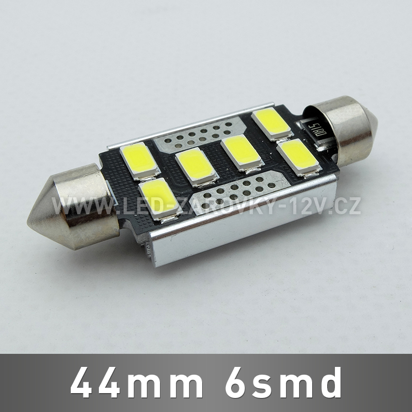 CAN-BUS sufitka bílá - Super Light, 6SMD LED, 44mm, 1ks