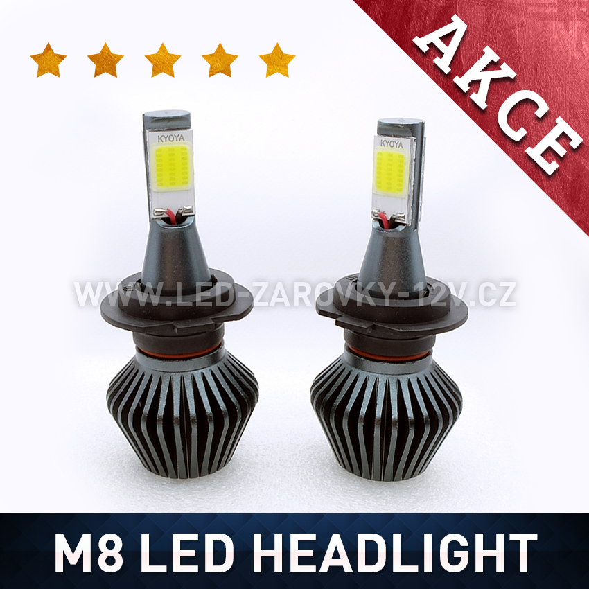 M8 LED HEADLIGHT H4 6000K 36W / 3800LM 12V/24V